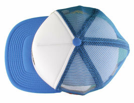 LRG Lifted House of Research Smoking Rooster Blue White Baseball Snapback Hat image 6