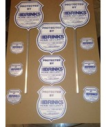 NEW REFLECTIVE BRINKS 2 Security Yard Stake Signs; 3 Signs; 6 Door/Windo... - $36.99