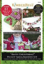 Kimberbell KD541 Happy Everything! Pocket Tags & Banners - $39.55