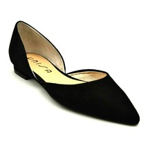 Unisa Womens Luriza Pointed Toe Ballet Flats Size 6M Black Cut Out Sides... - $27.71
