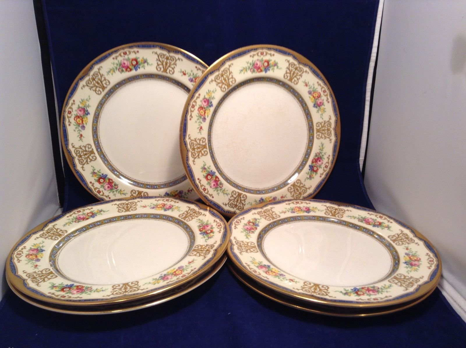 Antique Set of 6 Porcelain Plates by Pareek Johnson Bros England
