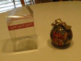 RARE ornament Christmas Barbie ball Matrix Mattel 1997 sled gold bow tre... - $10.71