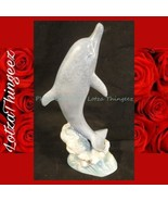 "11.5"" Blue Dolphin Ceramic Statue Figurine Jumping - $29.69"