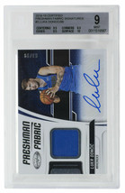 Luka Doncic Signed 2019 Freshman Fabric #3 Signature Card BGS MT 9 - $5,543.99