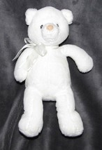 "Baby Gund Bibi Small White Teddy Bear 58818 Plush Lovey Toy Soft 11"" Stu... - $49.49"