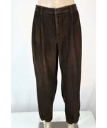CLUB ROOM Men's 40 x 30 (Actual 39 x 29)Brown Pleated/Cuffed Corduroy Pa... - $28.05