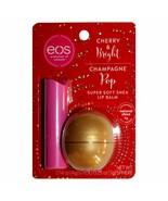 eos (1) 2pc Set Lip Balm Stick & Sphere Container - Cherry & Bright Cham... - $14.98