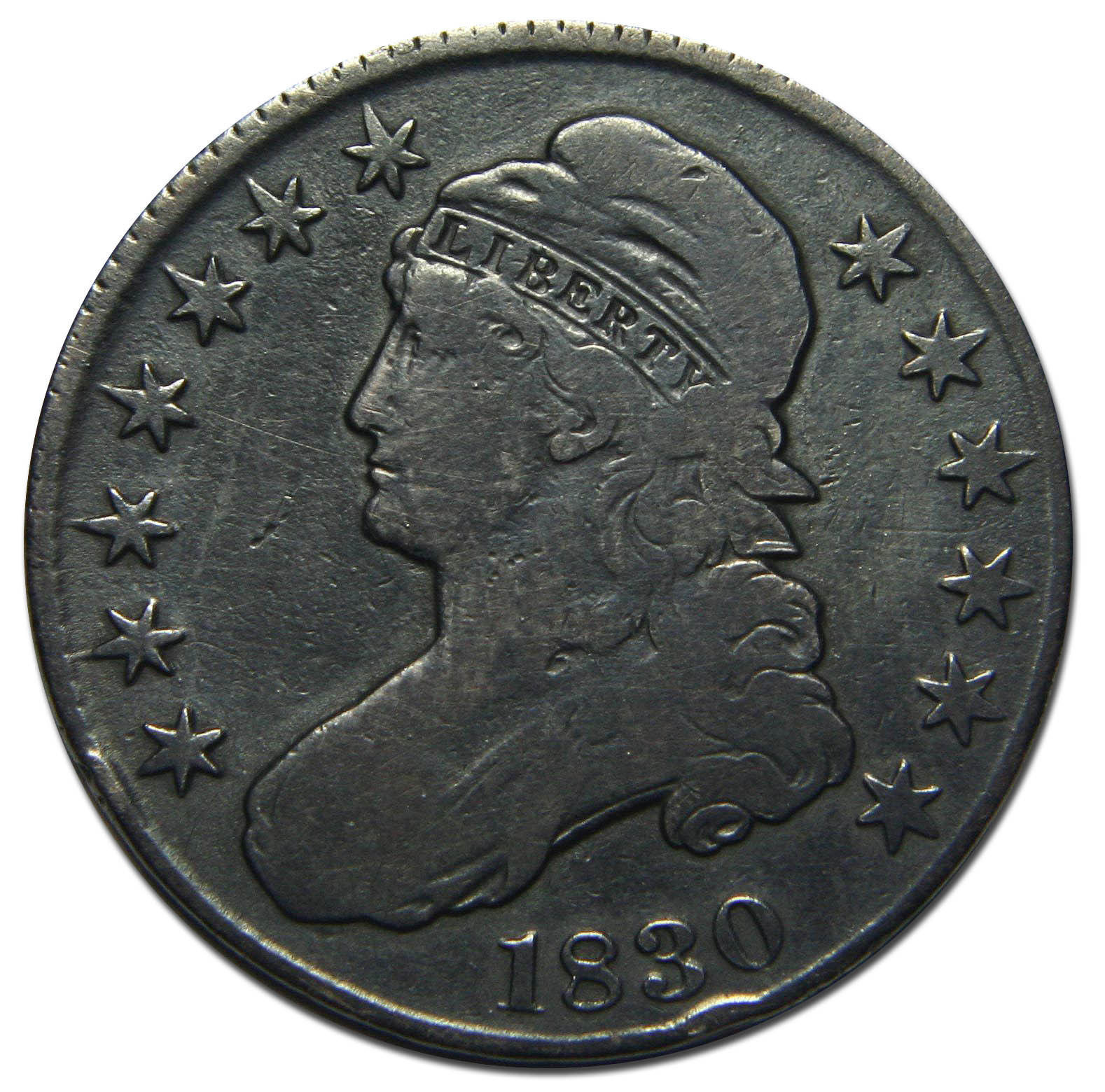 1830 Capped Bust Half Dollar 50¢ Coin Lot# MZ 2685