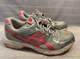 ASICS Gel Conteno Running Sneakers Shoes Women's 7.5 T2N8Q Grey Pink - $29.69