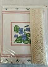 Cathy Needlecraft Country Tymes Wild Violets Candlewick Embroidery Pillo... - $11.83