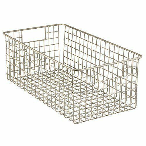 Wire Basket Organizer Foods Utility Deep Storage Pantry Household Supplies NEW