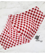 Checkered Cotton Face Mask Red White Gingham Double Layer Cloth Handmade... - $12.95