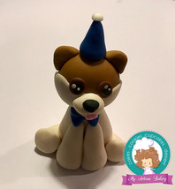 Boo the dog inspired fondant cake topper - $23.00