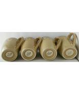 Vintage Lot 4 Pfaltzgraff Tea Coffee Cups Mugs Black Scroll Design Disco... - $22.76