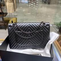 Chanel Black 2.55 Reissue SO BLACK CHEVRON Calfskin 227 Jumbo Double Flap Bag image 5