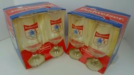 (8) NoS Vintage Libbey Budweiser 1984 Los Angeles Olympics 12 Oz Pilsner... - $51.41