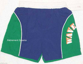 Boy Swim Shorts Bathing Trunks 4T NEW Green Blue Wave Rider White - $6.00