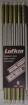 """Lufkin 1066DLN Wood Rule 5/8"""" x 6' Red End Engineers Scale - $10.89"""