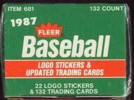 1987 Fleer Baseball Card Updated Factory Sealed Set 132 Cards Traded - $3.95