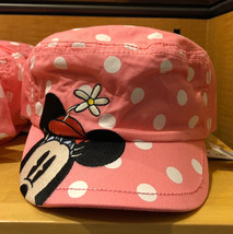 Disney Parks Minnie Mouse Polka Dot Cadet Hat Cap New - $38.78