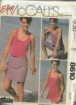 Vintage Easy McCall's #8610-Misses Top-Skirt-Pants-Shorts Sz Small-Sherr... - $3.95