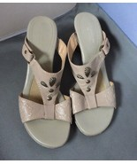 Naturalizer N5 Comfort Adria Open Toe Slides Shoes  Womens Tan Size 8.5 - $19.80