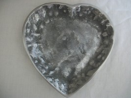Heart Shaped Pewter Candle Tray (#0545) with or without the candle - $12.99