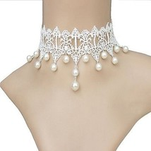 Acxico White Pure Beautiful Gothic Pearl Bridal Wedding - $16.99