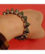 Stretch Bracelet with Gray Spikes  - $12.85