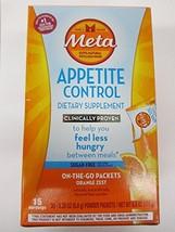 Metamucil Appetite Control Dietary Supplement, Sugar-Free Orange Zest, 3... - $13.97