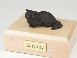 Angora Cat Figurine Bronze Cremation Urn Available 3 Different Colors & ... - $169.99+