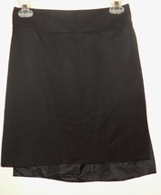 Yves St. Laurent Rive Gauche Black Short High Low Wool Skirt Size 42 W 2... - $108.59