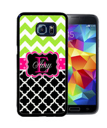 PERSONALIZED RUBBER CASE FOR SAMSUNG S9 S8 S7 S6 S5 PLUS BLACK QUARTERFO... - $13.98