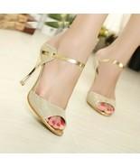 Women Pumps Stiletto High Heels Peep Toe Rubber Wedding Shoes Thin Heels... - $14.88+