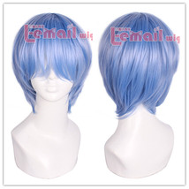 Neon Genesis Evangelion Ayanami Rei Short Blue Cosplay Party Hair Wig+Wig Cap - $14.95
