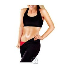 BeautyKo Women's Thermo Slimming Detox Pants Black/Red Size: Large  - $12.82
