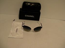 Sunglasses CHANEL 5228 white black frame gray lenses authentic - $197.95