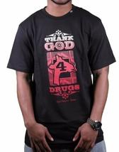 LRG Hombre Negro Thank Dios 4 Drogas Giraf Fumar Árboles Camiseta C121033 Nwt