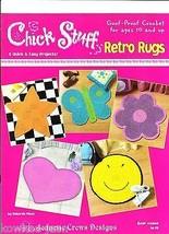 Crochet rag rug pattern Retro Rugs chick stuff star butterfly heart flow... - $12.86