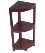 Teak 32-Inch Solid 3 Tier Corner Shelf Kitchen Bathroom Deck Leg Levele... - $252.40