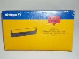 Pelikan 6P288 Black Fabric Cartridge Ribbons (6 Ribbon Pack) For Epson Printers - $22.16