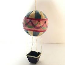 Vintage Asian Bamboo Christmas Ornament Hot Air Balloon - $10.49