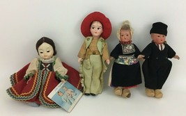 Vintage Doll Lot 4 Dolls Dutch Boy Girl Celluloid Wood Madame Alexander ... - $24.90