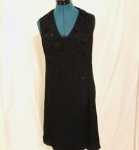 Armani Collezioni Black Halter Lined Dress Size 10 EU 46 Prom Evening image 2