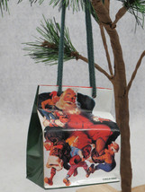 Unusual 1991 Coca Cola Music Box Christmas Santa Bag Ornament Plays Coke... - $7.08
