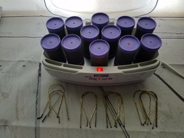 """Conair More Big Curls 12 Purple Hot Rolls Jumbo Roller Size 1 1/2"""" With 12 Clips - $29.95"""