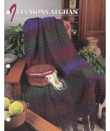 Illusions Afghan, Annie's Quilt & Afghan Crochet Pattern Club Leaflet QA... - $3.95