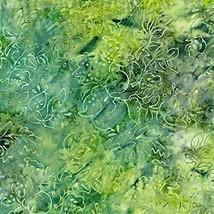 Desert Green Malam Batik Jinny Beyer Batik Fabric by RJR Fabrics - $13.70