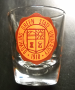 Bowling Green State University Shot Glass Orange Coat Of Arms on Clear G... - $6.99