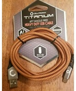 Celltronix- Titanium- 6' Tangle Free, Heavy Duty USB Cable- USB to Micro... - $8.81